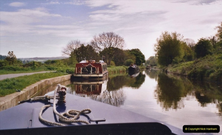 2005 Miscellaneous. (64) Your Host helps out on a narrow boat on the Kennet & Avon Canal.