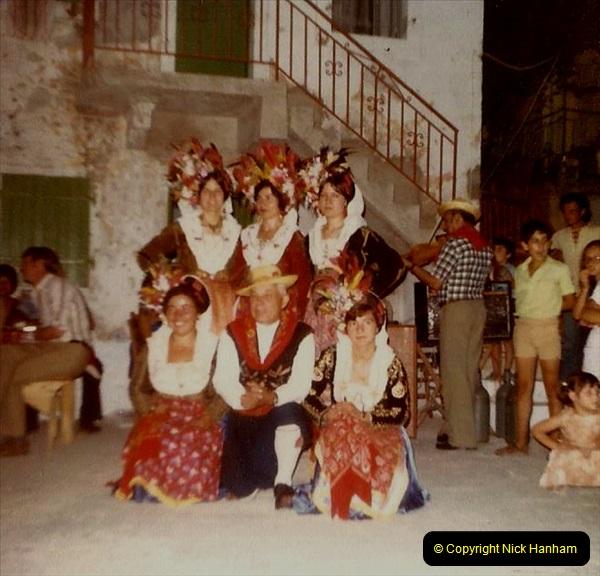 1980 Retrospective Corfu. (19) Evening meal and village visit.  19