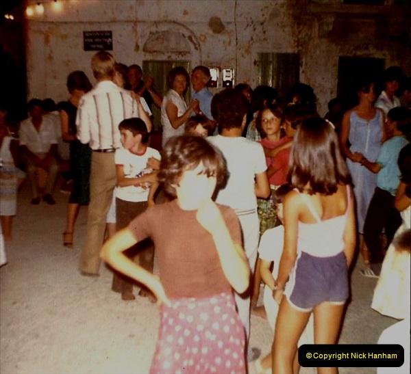 1980 Retrospective Corfu. (21) Evening meal and village visit.  21