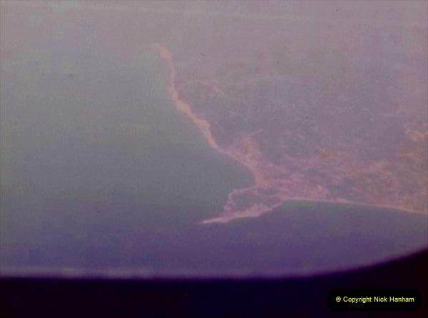 1980 Retrospective Corfu. (65) Flying over Corfu. 65