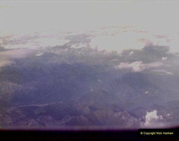 1980 Retrospective Corfu. (66) Flying over the Alps. 66
