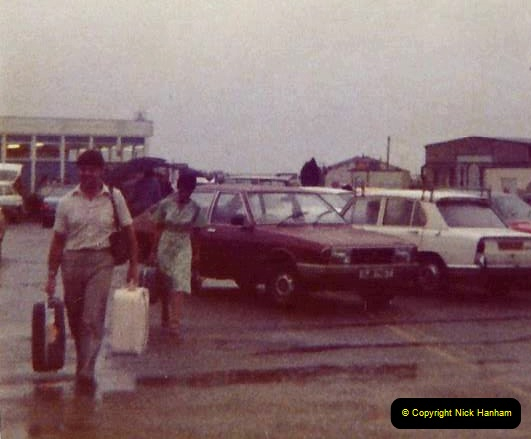 1980 Retrospective Corfu. (69) A very wet return to Bournemouth. 69