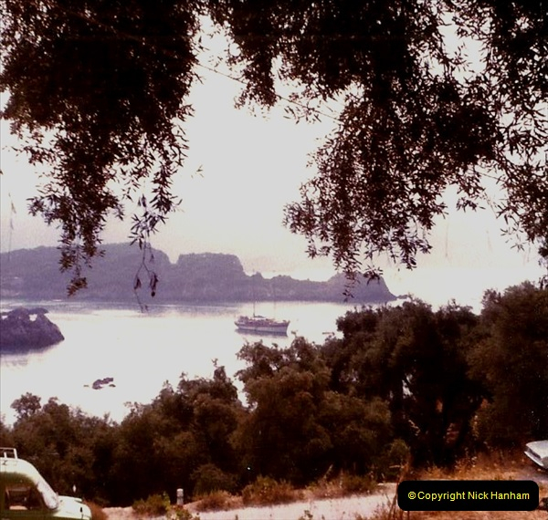 1980 Retrospective Corfu. (8) View from out hotel room. 08