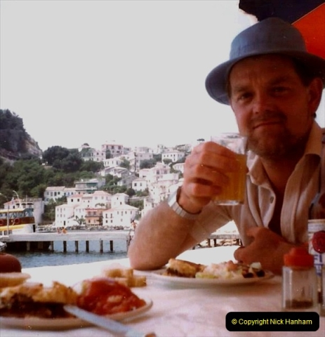 1980 Retrospective Corfu. (62) A last toast to Corfu.62