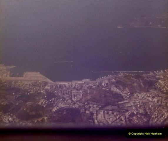 1980 Retrospective Corfu. (64) Flying over Corfu. 64