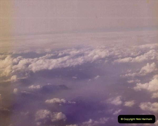 1980 Retrospective Corfu. (67) Flying over the Alps. 67