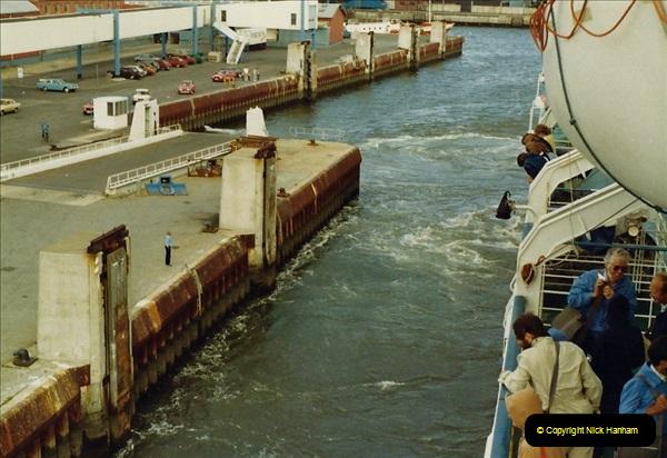 Denmark July 1983. (44) Esbergeg, Denmark to Harwich. 44
