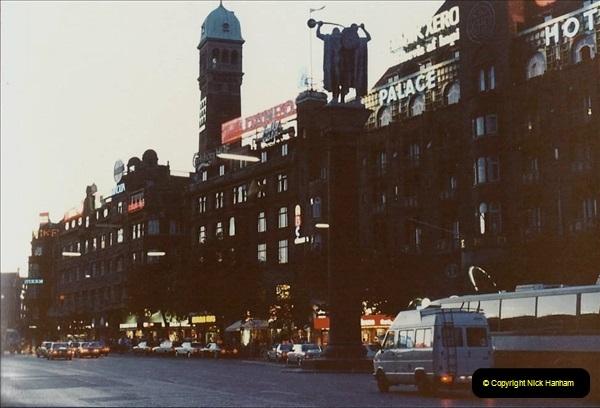 Denmark July 1983. (38) Copenhagen at night. 38