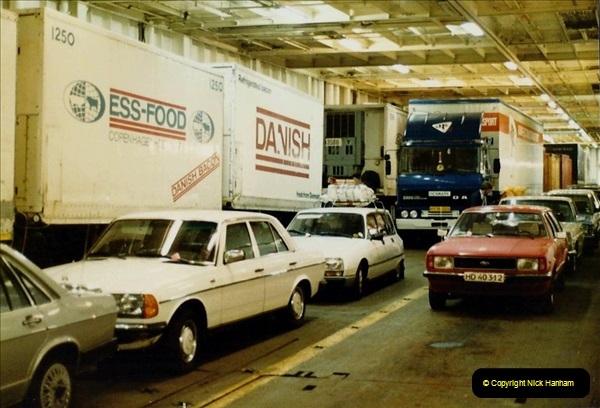 Denmark July 1983. (48) Esbergeg, Denmark to Harwich. 48