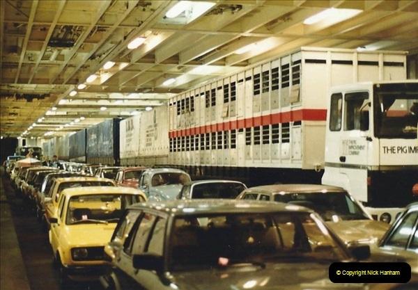 Denmark July 1983. (49) Esbergeg, Denmark to Harwich. 49
