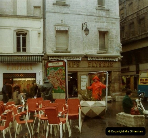 1980 Retrospective  France South. Pictures by your Host's Wife.  (19) Avignon.19