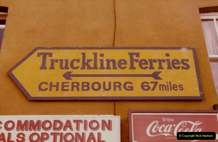FRANCE 1984. Sign near the quay in Poole, Dorset. (1) 35