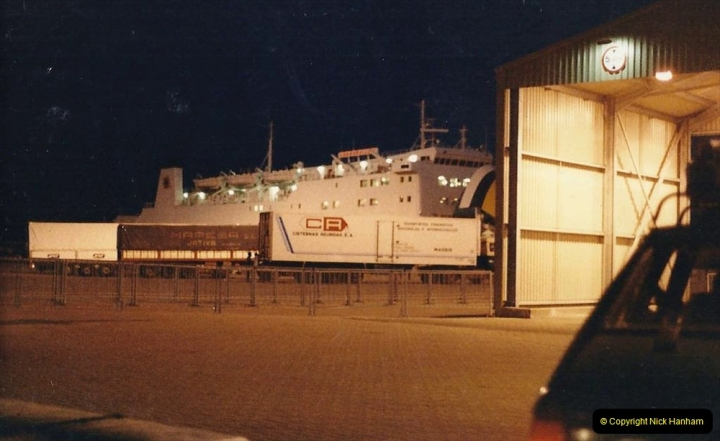 1986 Brittany, France. (1) Leaving Poole July. 001