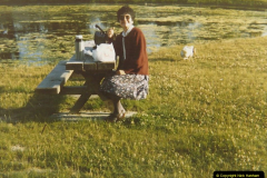 1986 Brittany, France. (17) Breakfast in France. 017