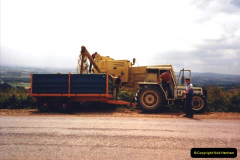 1987 France. (45) Bringing in the harvest.45