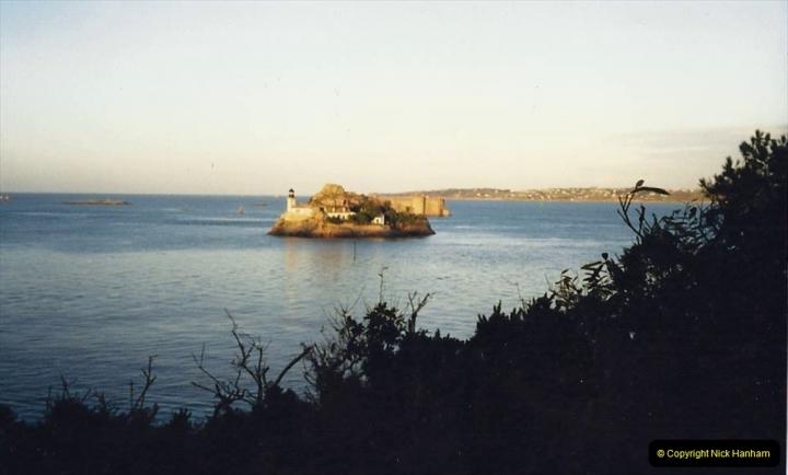 1988 Brittany, France. (37) Views from Carantec. Chateau Du Taureau. 37