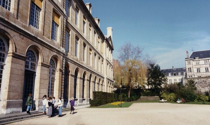 1990 Retrospective France North West and Paris, School Visit. (119) Pauilly. 119