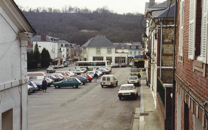 1990 Retrospective France North West and Paris, School Visit. (25) Lillebonne. 025