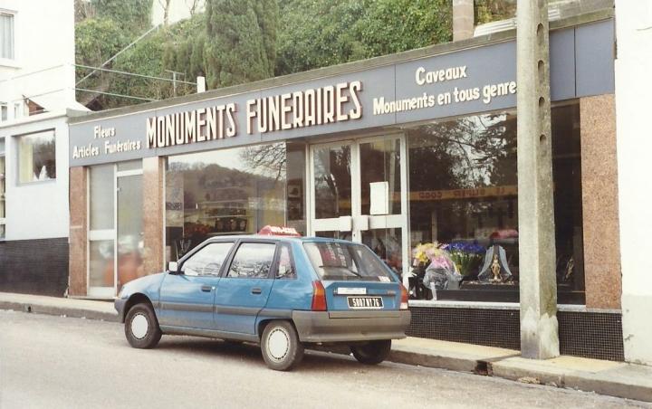 1990 Retrospective France North West and Paris, School Visit. (31) Lillebonne. 031