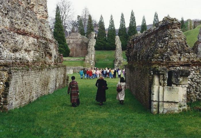1990 Retrospective France North West and Paris, School Visit. (33) Lillebonne. 033