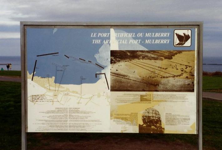 1990 Retrospective France North West and Paris, School Visit. (39) Arromanches. 039
