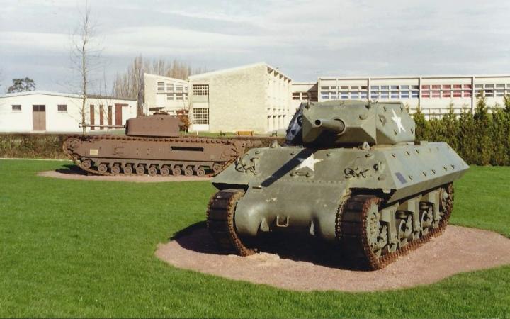 1990 Retrospective France North West and Paris, School Visit. (43) Arromanches. 043