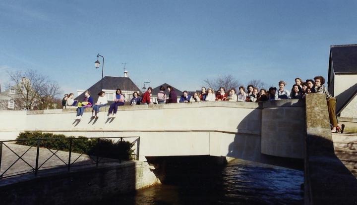 1990 Retrospective France North West and Paris, School Visit. (52) Bayeux. 052