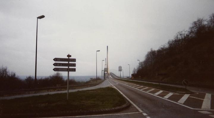 1990 Retrospective France North West and Paris, School Visit. (62) On the way to Paris. 062