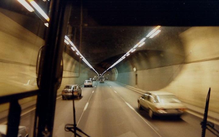 1990 Retrospective France North West and Paris, School Visit. (64) On the way to Paris. 064