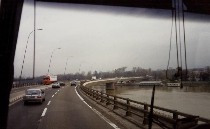 1990 Retrospective France North West and Paris, School Visit. (65) On the way to Paris. 065