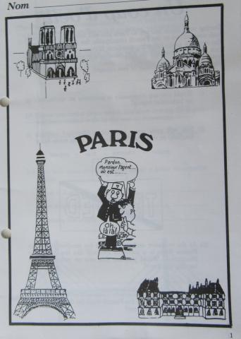 1990 Retrospective France North West and Paris, School Visit. (67) Paris. 067