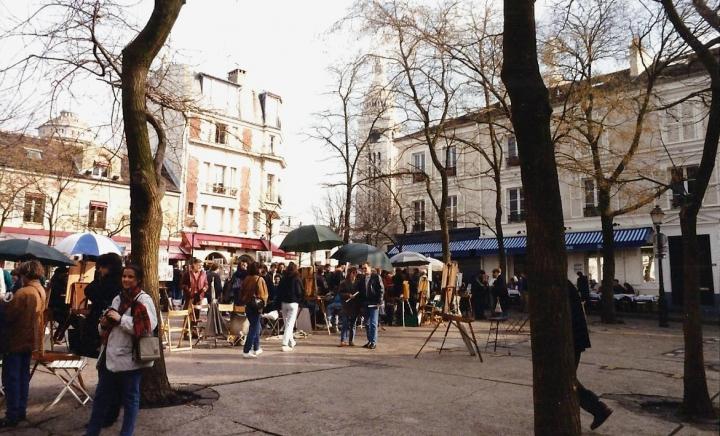 1990 Retrospective France North West and Paris, School Visit. (83) Paris. 083