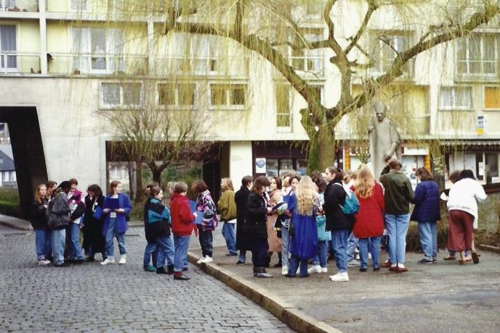 1990 Retrospective France North West and Paris, school visit. (19) Caudebec En Caux. 019