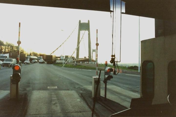 1990 Retrospective France North West and Paris, school visit. (36) Pont De Tancarville. 036