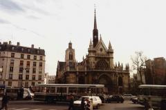 1990 Retrospective France North West and Paris, School Visit. (105) Paris. 105