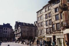 1990 Retrospective France North West and Paris, School Visit. (123) Rouen. 123