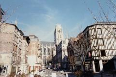 1990 Retrospective France North West and Paris, School Visit. (124) Rouen. 124