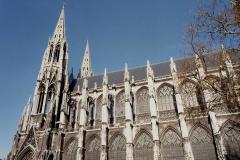 1990 Retrospective France North West and Paris, School Visit. (130) Rouen. 130