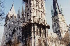 1990 Retrospective France North West and Paris, School Visit. (131) Rouen. 131