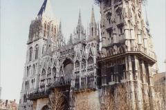 1990 Retrospective France North West and Paris, School Visit. (132) Rouen. 132