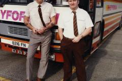 1990 Retrospective France North West and Paris, School Visit. (147) Our drivers.147
