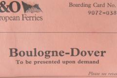 1990 Retrospective France North West and Paris, School Visit. (6) Dover. 006