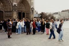 1990 Retrospective France North West and Paris, School Visit. (87) Paris. 087