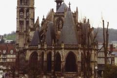 1990 Retrospective France North West and Paris, school visit. (20) Caudebec En Caux. 020