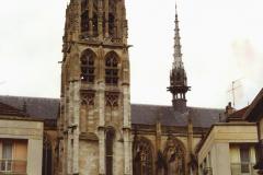 1990 Retrospective France North West and Paris, school visit. (21) Caudebec En Caux. 021