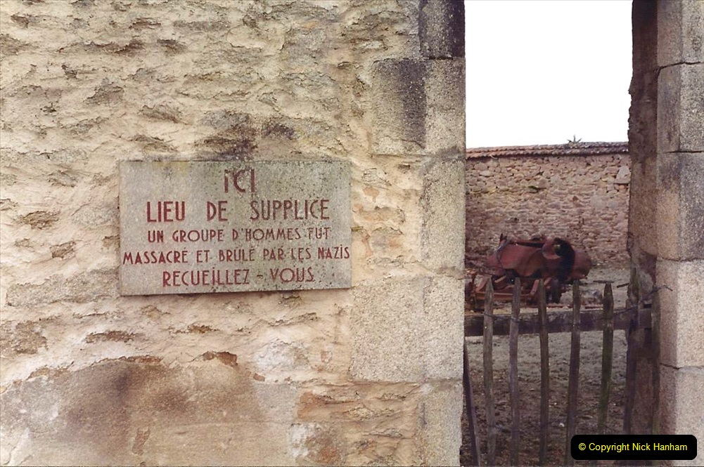 1994 France. (133) Oradour Sur-Glane was sacked by retreating German forces at the end of WW2. 138