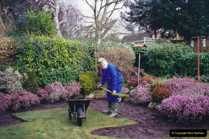 2001 Garden improvements at my Wifes cousins by your Host. Garden designed by my Wife's cousin.  (10) 10