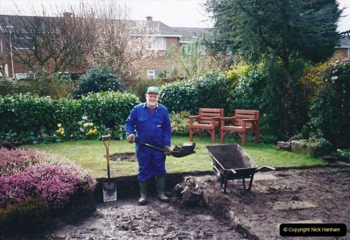 2001 Garden improvements at my Wifes cousins by your Host. Garden designed by my Wife's cousin.  (16) 16