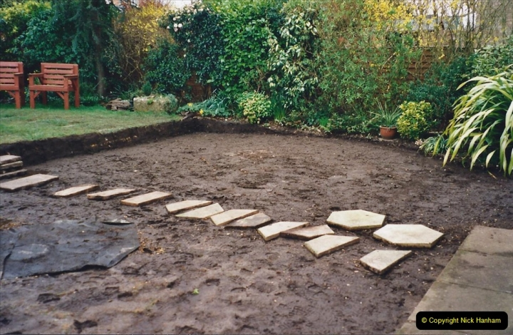 2001 Garden improvements at my Wifes cousins by your Host. Garden designed by my Wife's cousin.  (17) 17