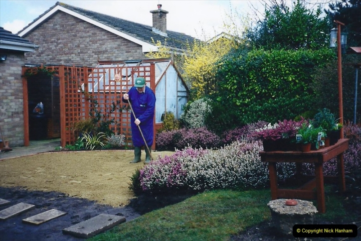 2001 Garden improvements at my Wifes cousins by your Host. Garden designed by my Wife's cousin.  (32) 32